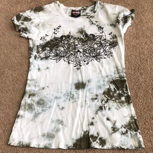 Tops - Harley Davidson tie dyed T-shirt